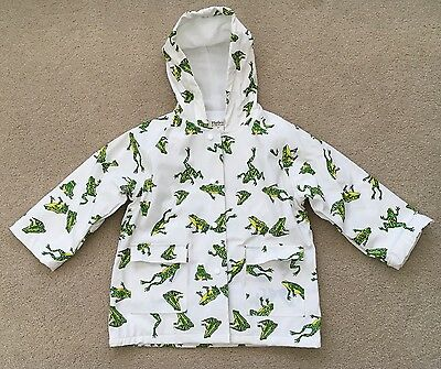 HATLEY Toddler Boys Frog Raincoat, Size 4T