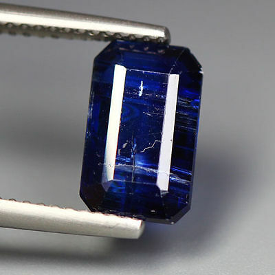 "3.30 Cts_Simmering Ultra Nice Color_100 % Natural Royal Blue Kyanite""un-Heated"""