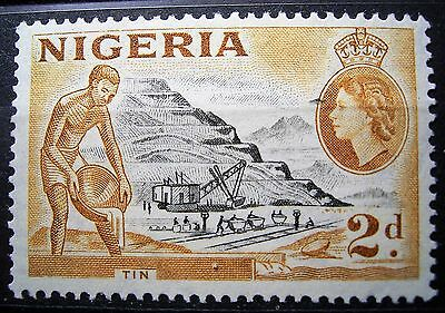 Nigeria Mint 2d Tin Mining Stamp