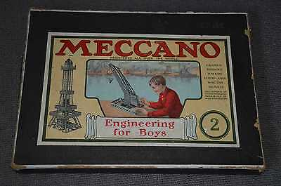 Meccano No.2 Boxed Pieces + Instructions.