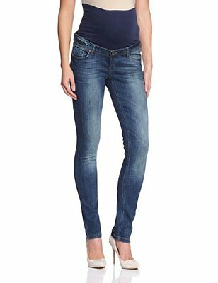 Noppies - Pantaloni Premaman slim fit, donna Blu (Blau (Stone Wash C295)) 2XS