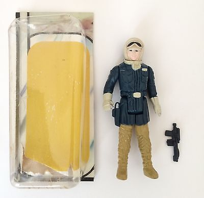Vintage Star Wars Han Solo Hoth Outfit Figure With Pale Face And Tan Legs