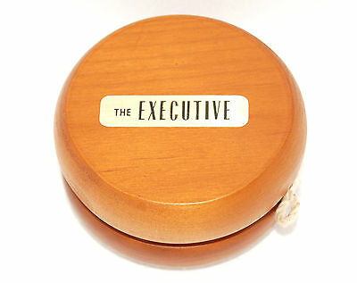 Wood Yoyo Large The Executive Working W/String Vintage Excellent