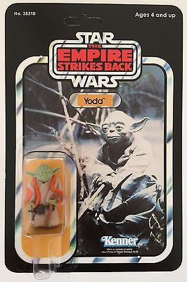Vintage Star Wars Yoda Figure On Empire Strikes Back Reproduction Card