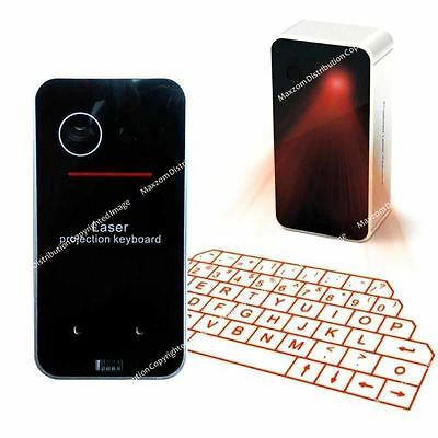 Virtual Laser Projection Keyboard Wireless Bluetooth  for iPhone iPad Table BK
