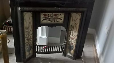 Cast Iron Tiled Insert Fireplace