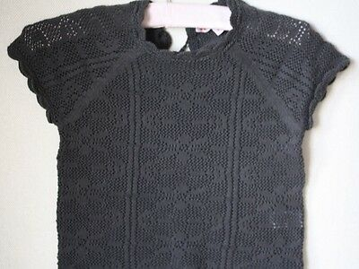 Bonpoint Baby Crochet Black Sweater Top 3 Years