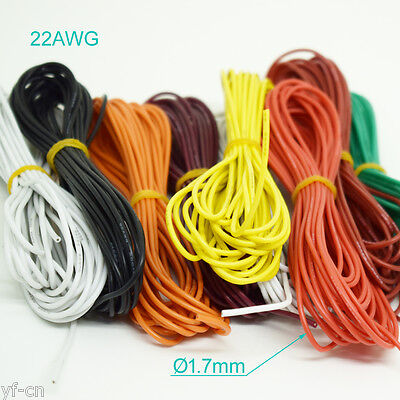100Meter 22AWG Flexible Soft Silicone Wire Tin Copper RC Electronic Cable 8Color