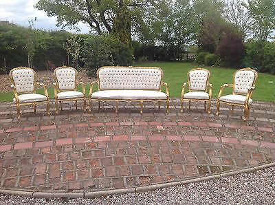 french sofa suite With 4 Chairs
