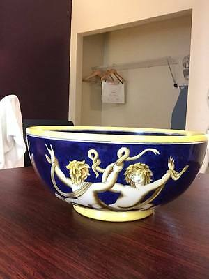 Gio Ponti Richard Ginori Large Bowl Vase Made Around 1925 Art Deco