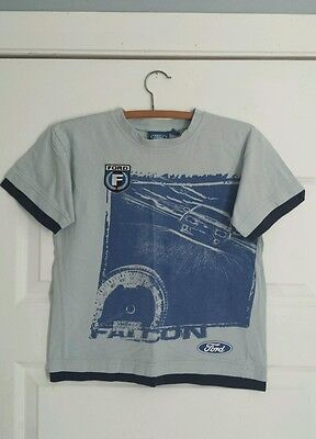 Authentic Ford Falcon Kids Shirt Embroidered Emblem Size 8 Good Condition