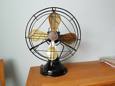 Vintage 1930s art deco General Electric Company (GEC) fan
