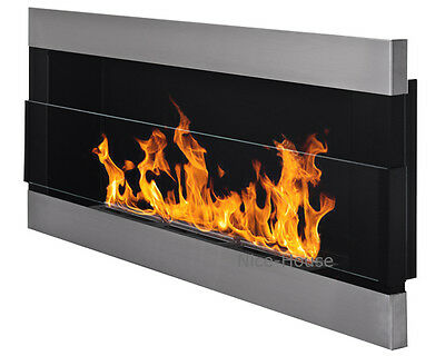 BIO ETHANOL FIREPLACE | 650 x 400 mm | IRON WITH GLASS  | ECO FIRE BURNER