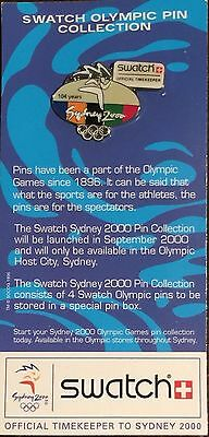 Swatch Sydney 2000 Olympics - 104 years - Official Timekeeper to Sydney 2000