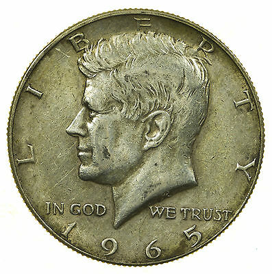 United States, Kennedy Half-Dollar, Jfk, Silver, Usa, 1965