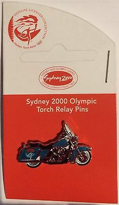 Sydney 2000 Olympic Torch Relay Pin - Harley Davidson Motorcycle