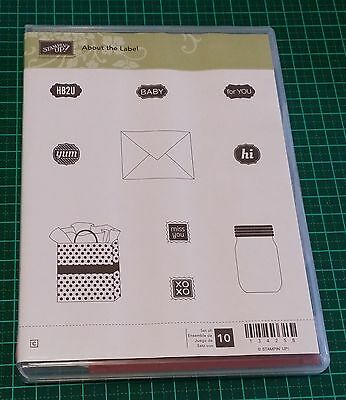 Stampin' Up! RETIRED Stamp Set ABOUT THE LABEL