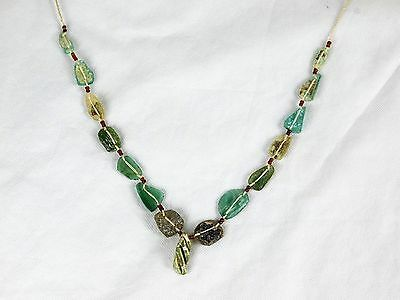 1) Ancient Roman Glass Necklace - Rome Jewellery - Afghanistan 2000 yrs old