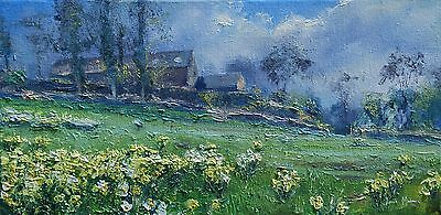 Julian Mason Ashlehay Daffodils Oil on Canvas Landscape Painting