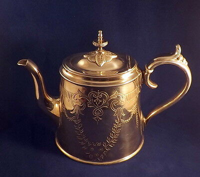 Phillip Ashberry & Sons-Sheffield-Antique Silver Plated Teapot - 1856-1890