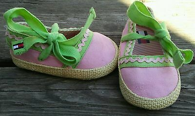 INFANT BABY GIRLS SHOES SANDALS ESPADRILLES by TOMMY HILFIGER SIZE 2M PINK