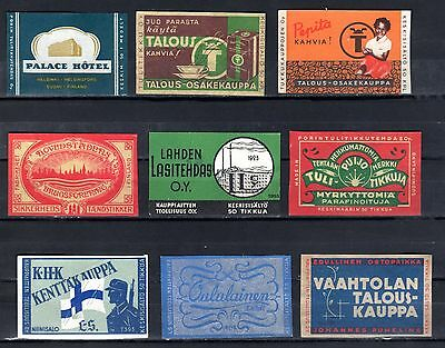 FPA MATCHBOX LABELS nr26- Palace hotel, Coffee ++ (9), Finland