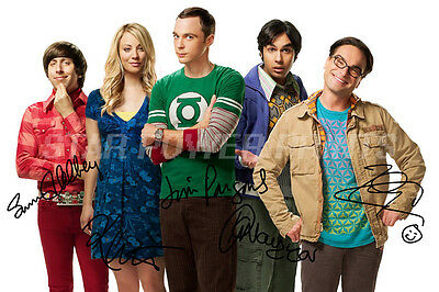 Big Bang Theory Cast Signed Photo Print Poster - 12 X 8 Inch - A+ Quality