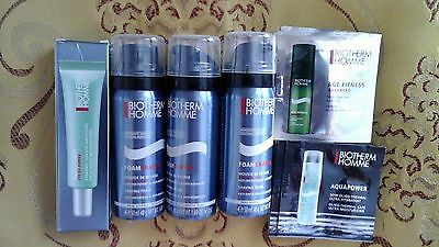 Lot biotherm homme mousse à raser+ age fitness+aquapower+eye de puffer