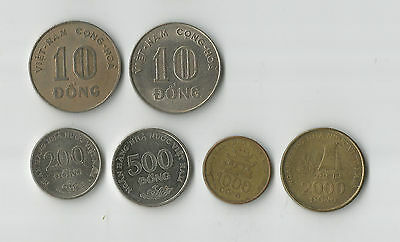 Vietnam group of 6 coins all different types & catalogue numbers
