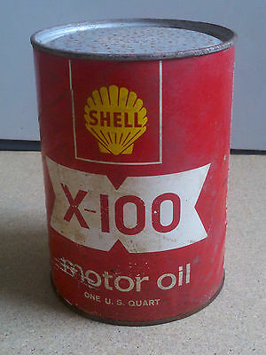 Vintage SHELL X-100 Quart Oil Can