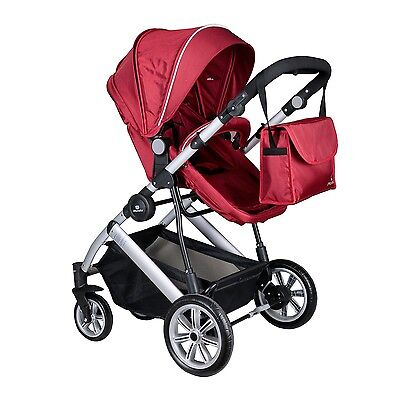 Easy fold 2 in 1 compact iMonsta buggy stroller (pushchair) & carrycot pram +bag