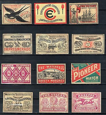 FPA MATCHBOX LABELS nr52- Mazeppa, Victory ++ (12), Sweden