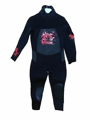 Body Glove - 3/2mm Full wetsuit - Junior QXS / Age 3-4 / Black-Red #0016