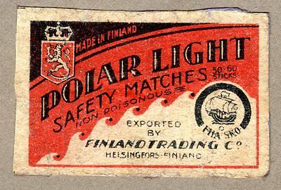 FPA OLD MATCHBOX LABELS nr75- Polar Light, Finland