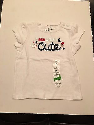 Nwt Infant Girls Shirt Size 18 Mo. From Jumping Beans In Red White Blue