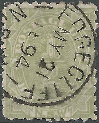 NSW 1891 POSTAGE DUE 1/2d Green ACSC D1 with EDGECLIFF fine used cds