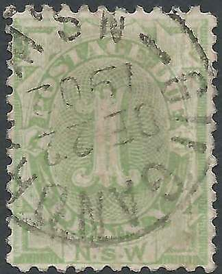 NSW 1891 POSTAGE DUE 1d Green ACSC D2 with GILGANDRA fine used cds