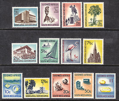 South West Africa #266-270,272-276,278-280, 1961-63 Short Set/13, F-Vf, Hinged