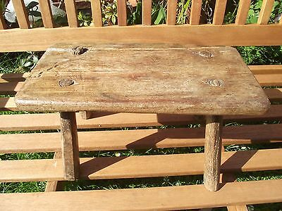 Rustic Wooden Milking ? Four Legged Stool  Vintage Farming Farm Cottage Rustic