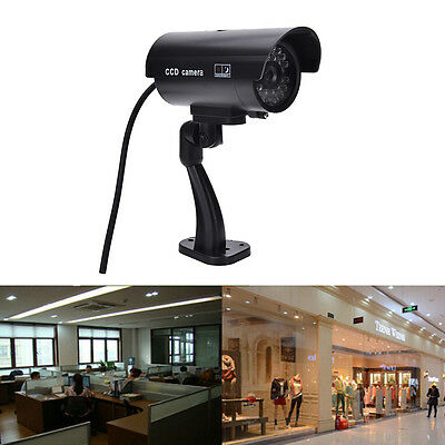 Quality Dummy Fake Outdoor Indoor Security Camera Night Blinking LED BLACK zd