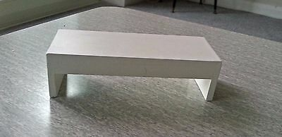 Dolls House 12Th Scale Modern White Coffee Table - Side Table - Console -Dhe
