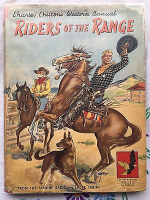 Fair - Good Condition  - Riders Of The Range, Charles Chilton, 6 Colour Plates