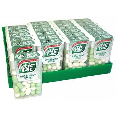 Full case 24x18g Tic Tac Spearmint Twist mints sweets Priceless Special Price!!!