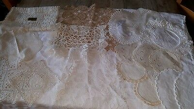 Vintage Linen and Lace, Including Nottingham Lace