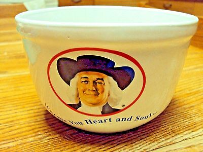 Vtg Quaker Oatmeal Logo Bowl WARMS YOU HEART AND SOUL 1999  3 CUP