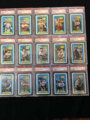 1970 Rold Gold Complete Set PSA 8 & 9 Baseball Cards Babe Ruth Cy Young Gehrig