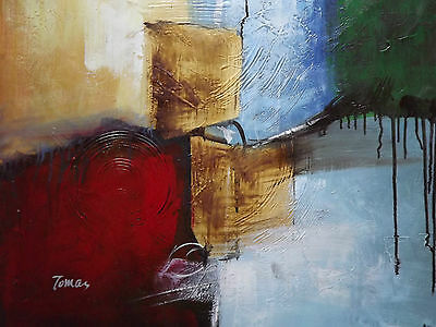 colourful abstract large oil painting canvas modern contemporary art original