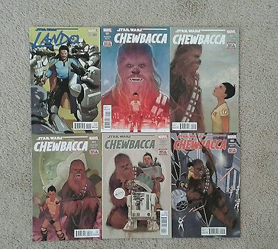 Chewbacca 1-5 + Lando 1 Variant Complete Set Lot  Star Wars Marvel