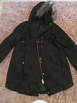 H&M Mama Maternity Black Coat Size Small