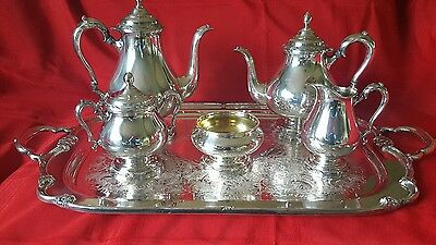 1847 Rogers Bros Remembrance 7 Piece Silver Coffee/Tea Service